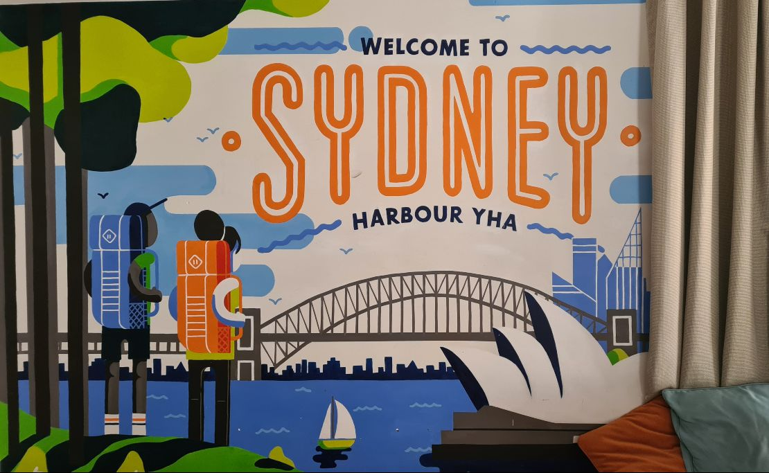 YHA Sydney Harbour Welcome Sign