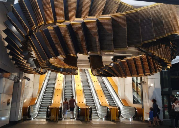 Wynyard Escalator Sculpture 750