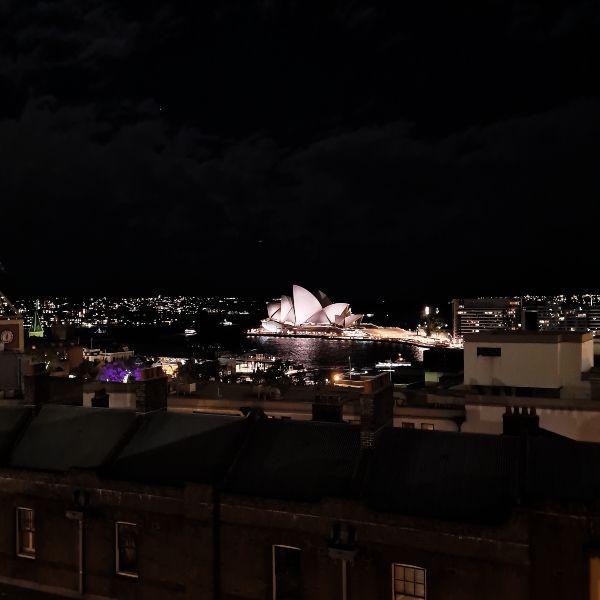 YHA Sydney by night