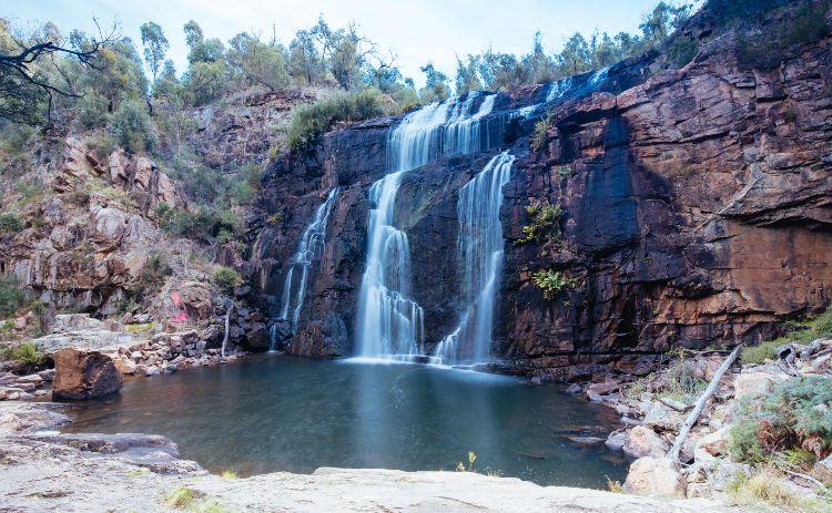 Mackenzie Falls ia short drive from Halls Gap in  Victoria, Australia