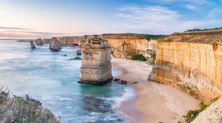 Twelve Apostles in Victoria at sunrise - Aussie bucketlist