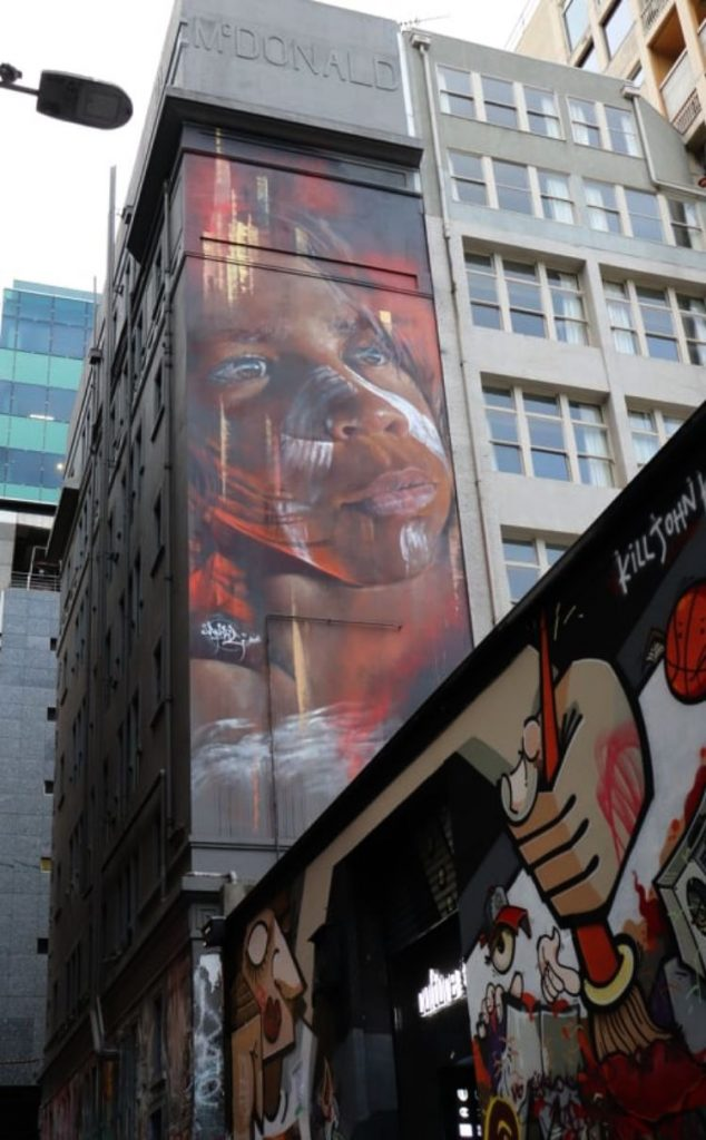 Adnate Aboriginal Boy Hosier Lane Melbourne