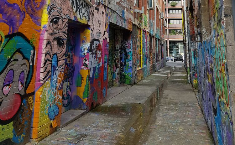 Blender Lane street art in Melbourne