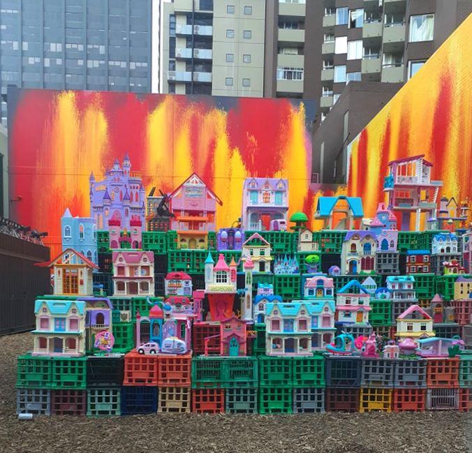 Natty Solo Dolls House Installation Corrs Lane Melbourne