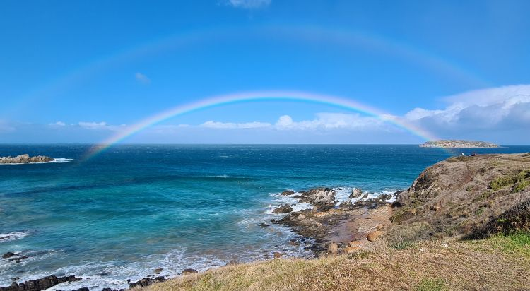 Double rainbow Bluff Lookout Encounter Bay 1