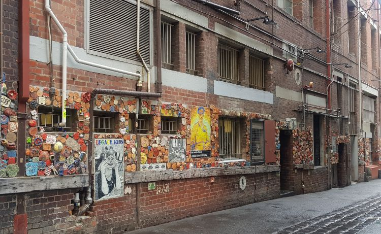 Drewery Lane Melbourne Mosaic Laneway