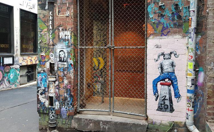 Duckworth Place Street art Melbourne