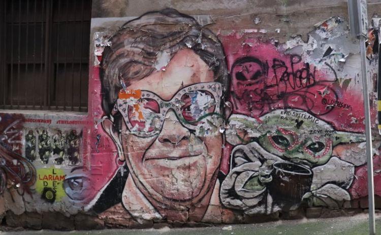 Elton Mural Melbourne