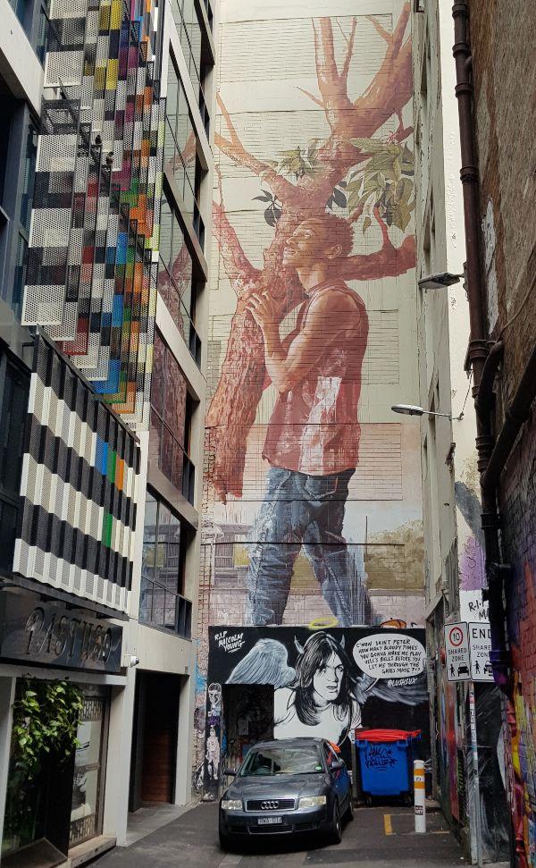 Fintan Magee Street Art Mural in Melbourne