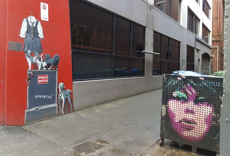 Holiday Saki Tuppence and Dobro Amphlett Mural