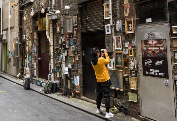 Street art lane in Melbourne