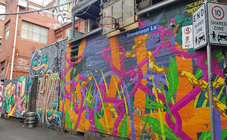 Stevenson Lane Melbourne Street Art