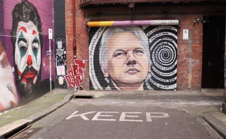 Julian Assange Mural Higson Lane Melbourne