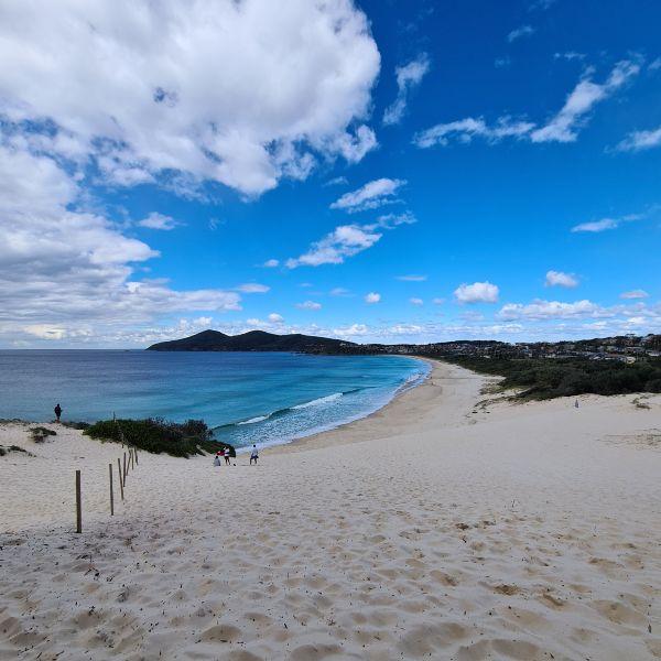 One Mile Beach Sand dune Forster