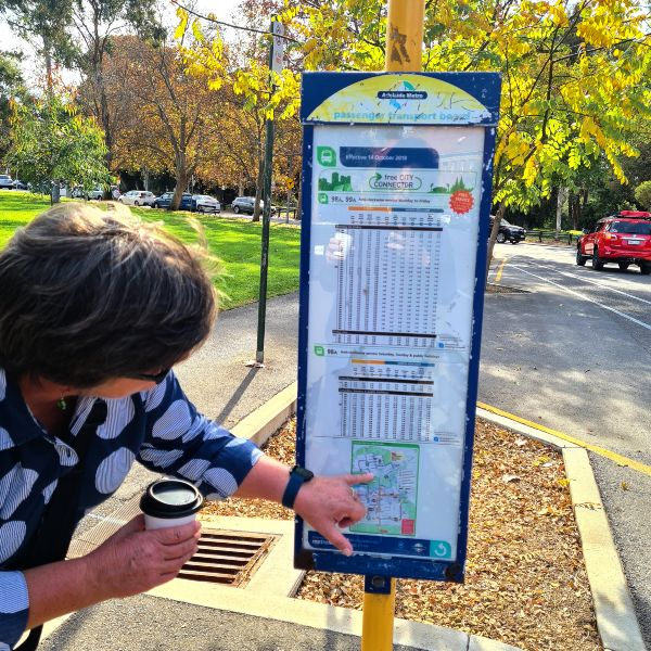 Adelaide free bus stop