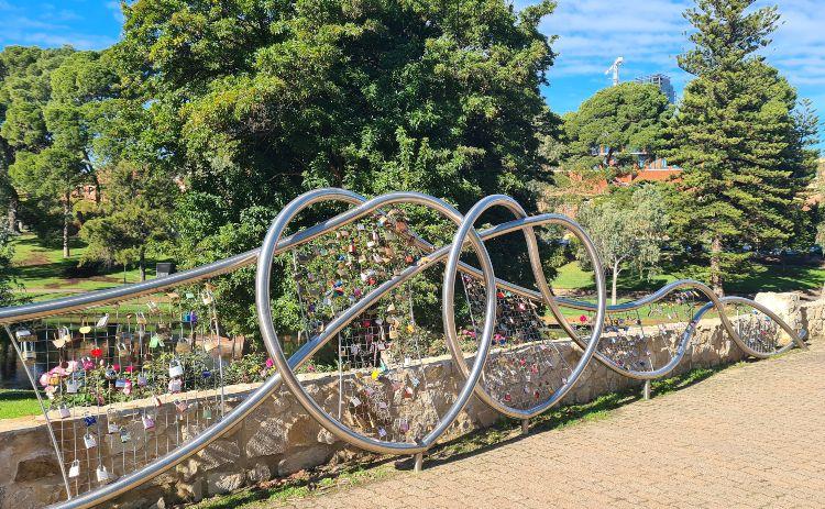 River Torrens Love Locks Adelaide 1