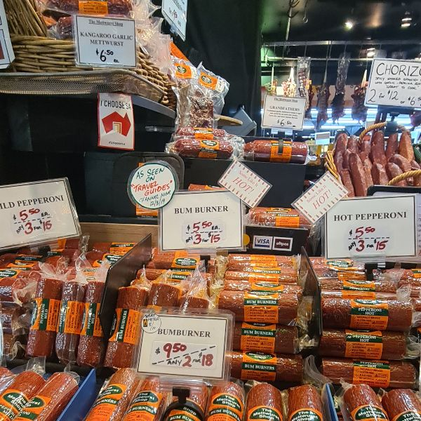 The Meetwurst Stall at Adelaide Central Market