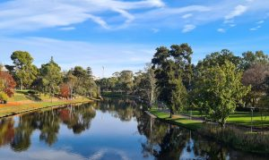 Autumn on River Torrens in Adelaide